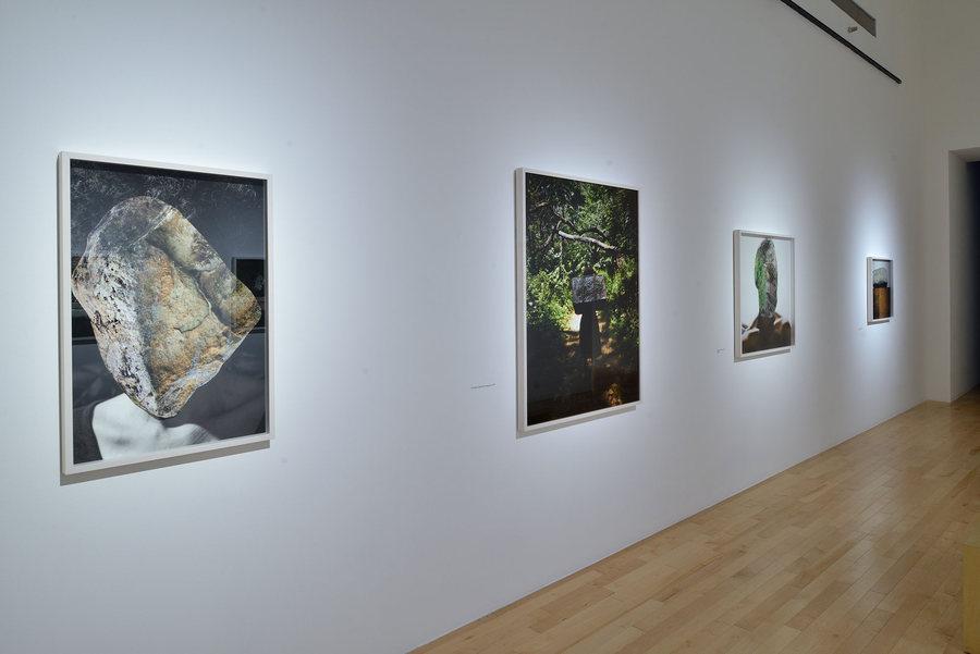 """Vista de la exposición """"Geometría sagrada"""", de Karina Skvirsky, en el Museo Amparo, Puebla, México, 2019-2020. Foto cortesía del museo"""