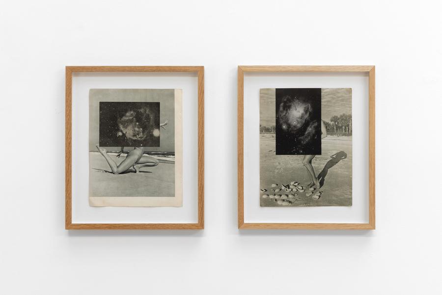 Cecilia Bonilla, Fantasies of Liberation, 2015, collage, 30 x 24 cm c/u. Foto: Eva Herzog. Cortesía: Cecilia Brunson Projects, Londres