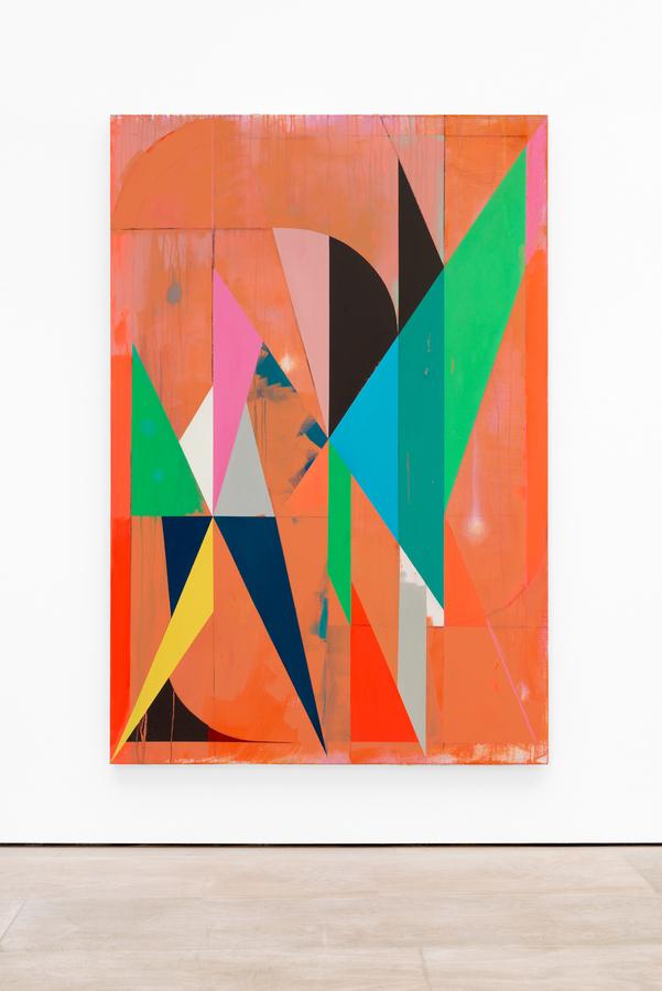 Jaime Gili, a528 (Republic Announcement), 2019, acrílico y óleo sobre lino,195 x 130 cm. Foto: Eva Herzog. Cortesía: Cecilia Brunson Projects, Londresia Brunson Projects, Londres