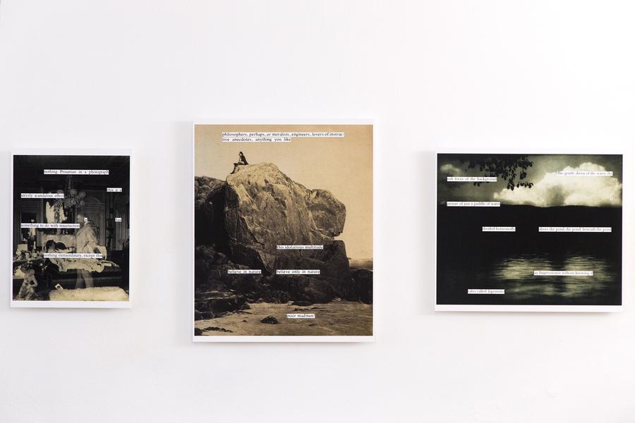 Iñaki Bonillas, Collages/Copias de exhibición. Inyección de tinta sobre papel de algodón. Cortesía del artista y ProjecteSD
