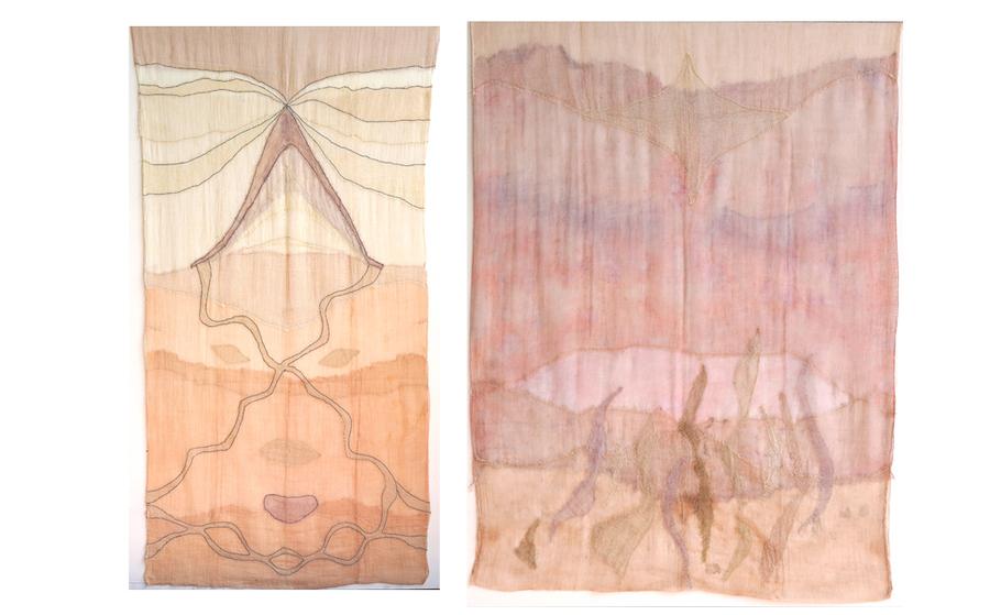 """Vista de la exposición """"Respirar una eternidad"""", de Catalina Bauer, en la Galería Ángeles Baños, Badajoz, España, 2020. Cortesía del artista y Ángeles Baños"""